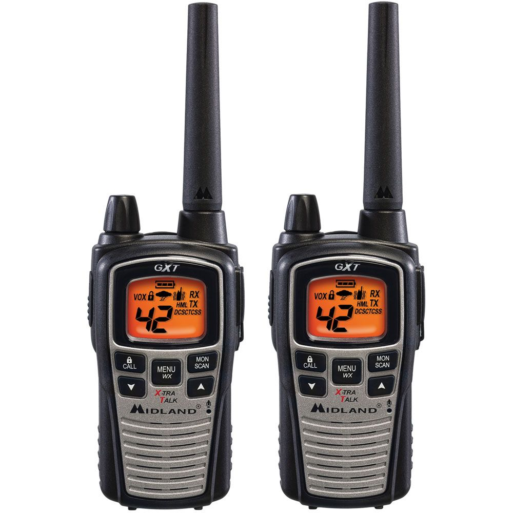 Midland 36 Mile Range 42 Channel Two-Way Radio Pair - Black