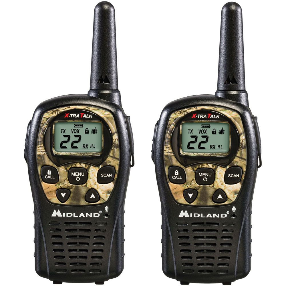 Midland 24 Mile Range 22 Channel Two-Way Radio Pair - Camo Camouflage