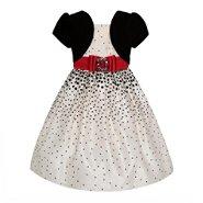 Love Girl's Dress Border Dot with Shrug at Sears.com