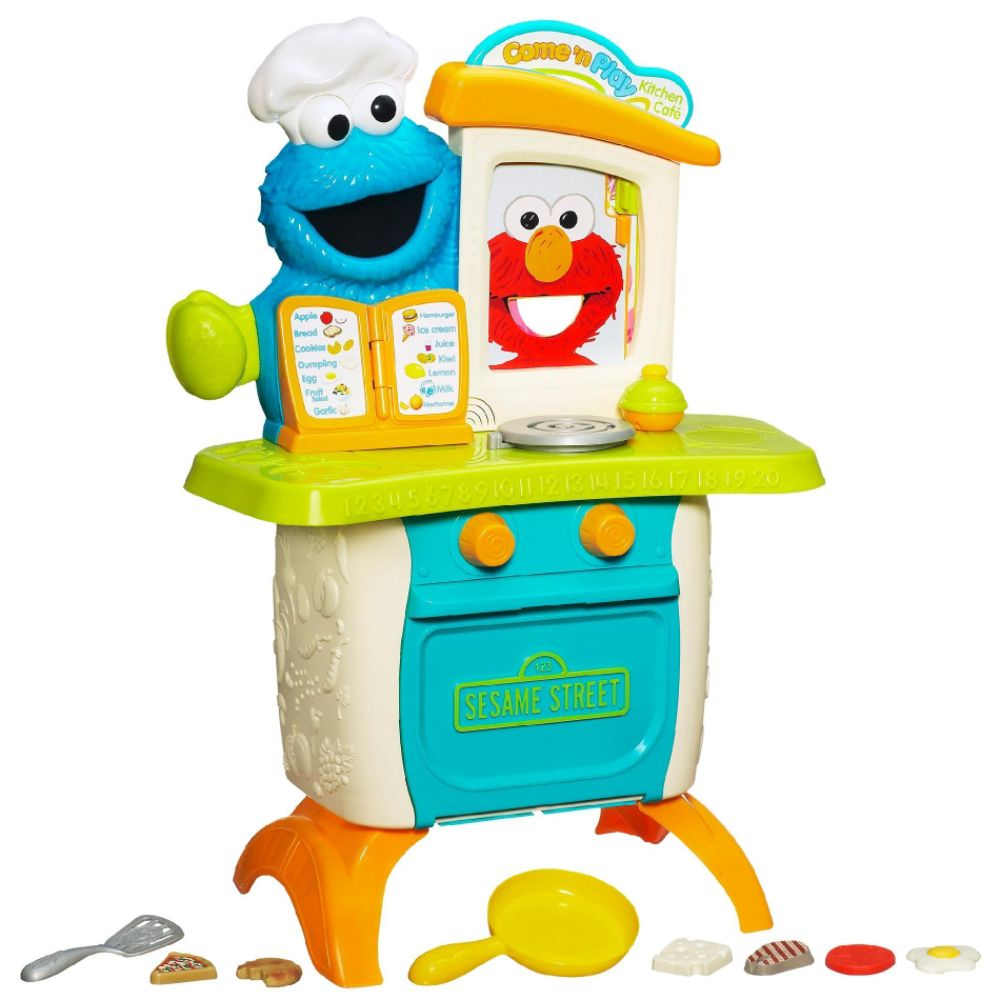 Playskool SESAME STREET Come 'n Play Cookie Monster Kitchen Caf? Playset