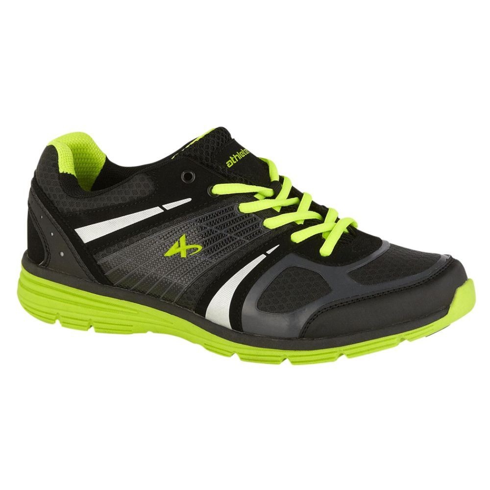 Athletech Men's Ath L-Hawk Low Profile Athletic Shoe - Black/Lime