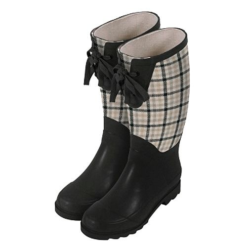 Laura Ashley Garden Wellington Boot - Mitford Charcoal, Size 6.5