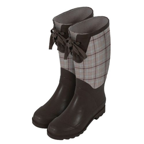 Laura Ashley Garden Wellington Boot - Brown Keynes Natural, Size 9.5