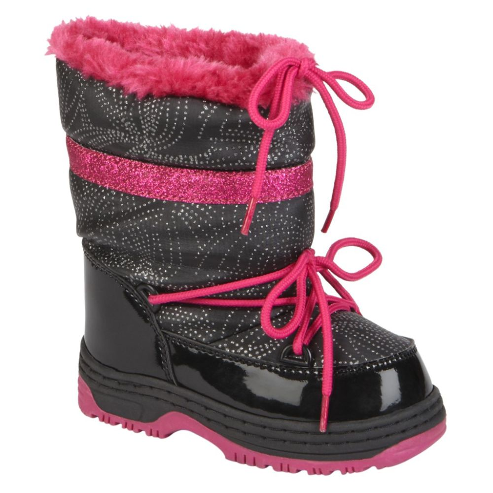 Athletech Toddler Girl's Cascade Winter Boot - Black/Pink
