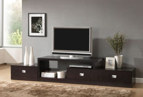 Baxton  Marconi Brown Asymmetrical Modern TV Stand