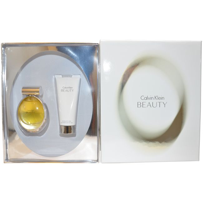 Calvin Klein Beauty by Calvin Klein for Women - 2 Pc Gift Set 3.4oz EDP Spray, 3.4oz Luminous Skin Lotion