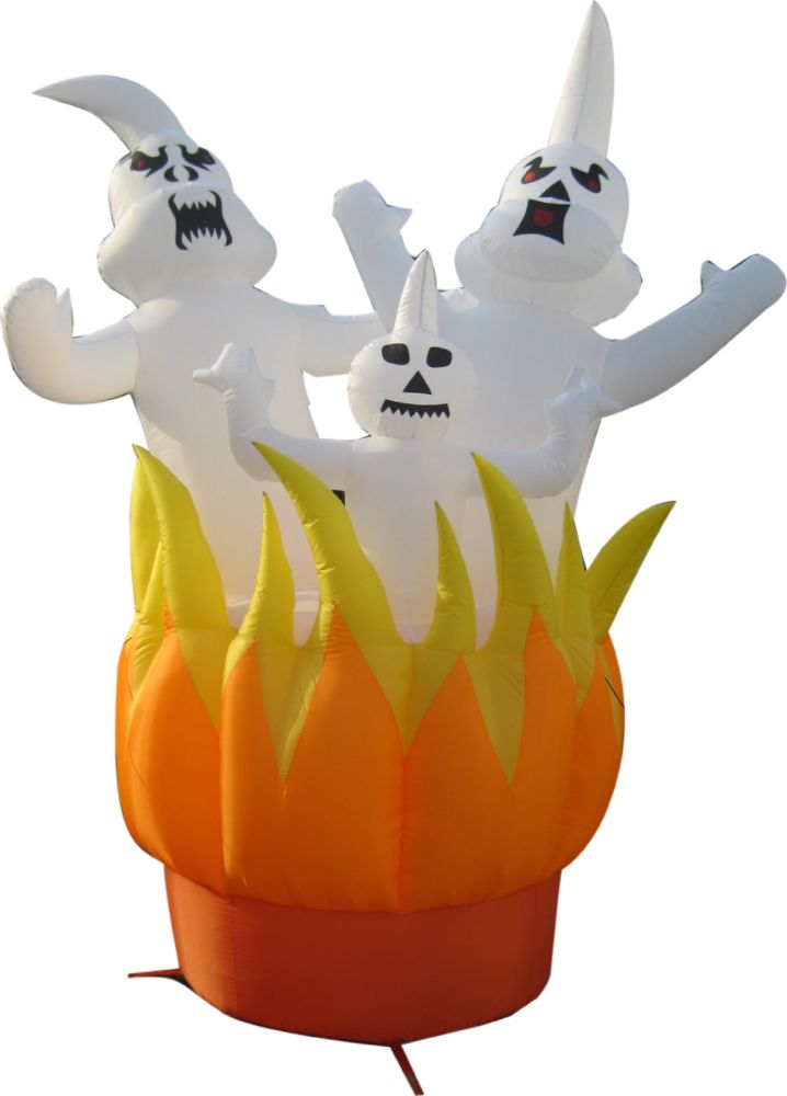 4 Seasons Global Halloween Inflatable Ghosts On                   Fire