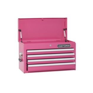 Craftsman  4-Drawer Ball-Bearing Top Chest - Pink