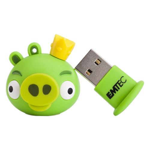 Emtec 4GB Angry Birds USB Flash Drive - King Pig