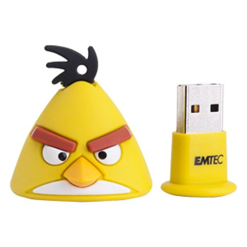 Emtec 4GB Angry Birds USB Flash Drive - Yellow Bird