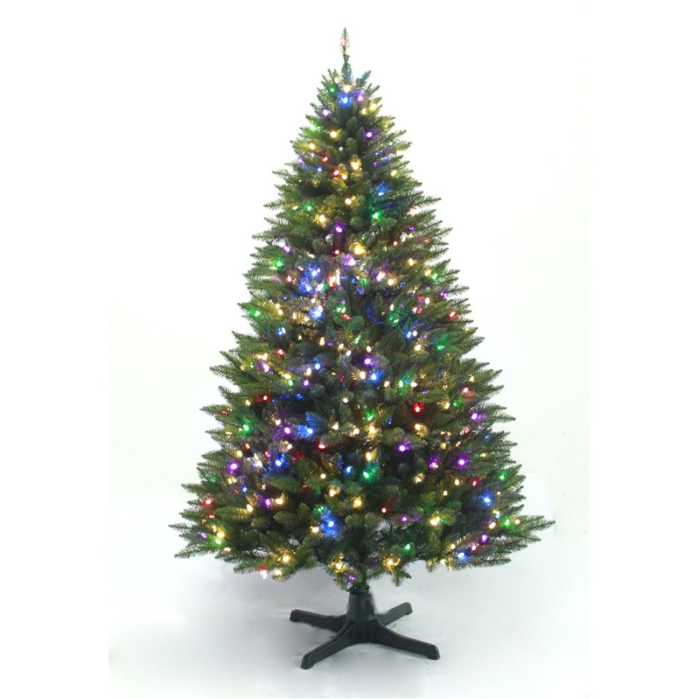 Jaclyn Smith 7ft Diamond Peak Christmas Tree with                            Clear Lights