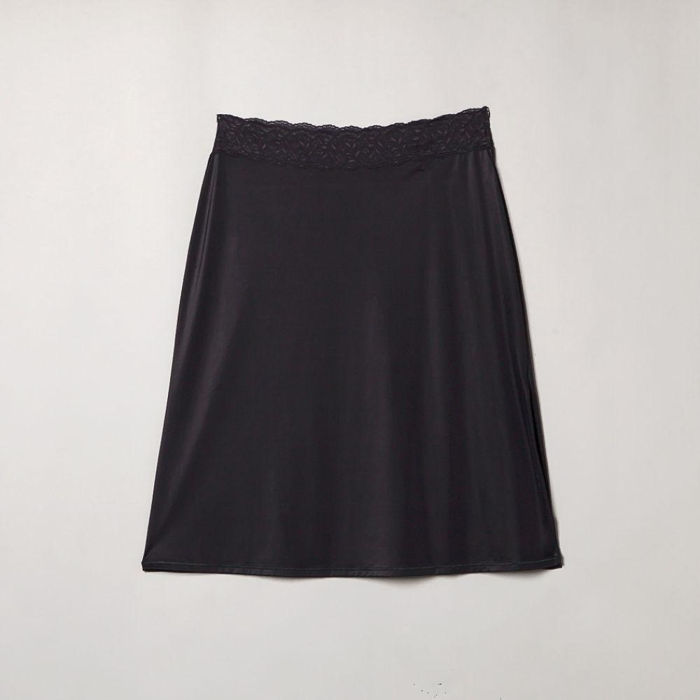 Vassarette Women's Half Slip Lace - Black