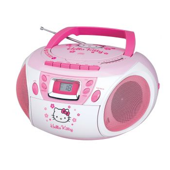 Hello Kitty KT2028A Stereo CD Boombox with Cassette Player/Recorder and AM/FM Radio