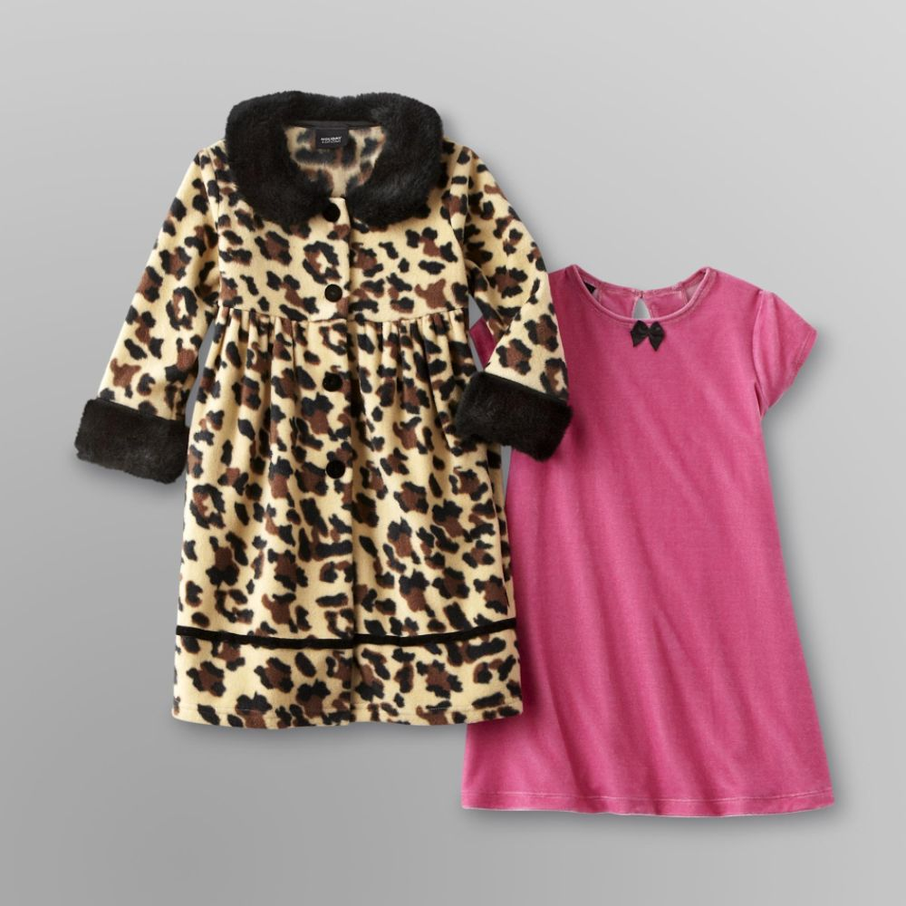 Holiday Editions Infant and Toddler Coat & Dress                            - Leopard Print