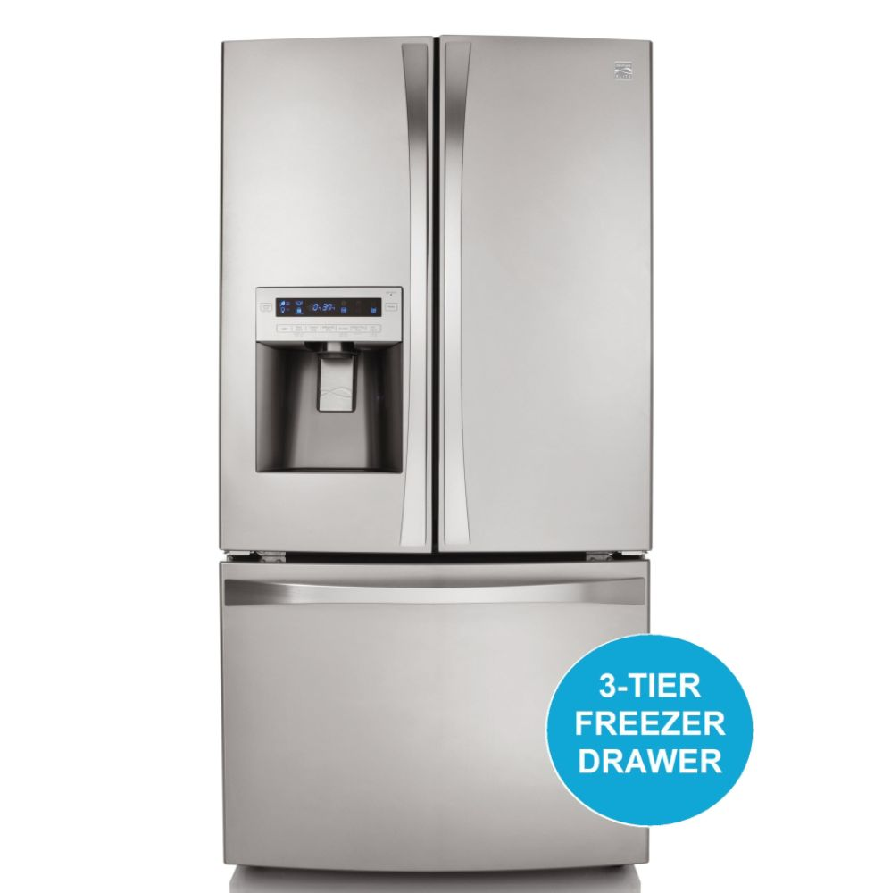 31.0 cu. ft. French-Door Bottom-Freezer Refrigerator - Stainless Steel