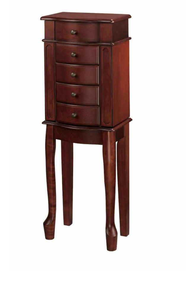Essential Home Jewelry Armoire Cherry