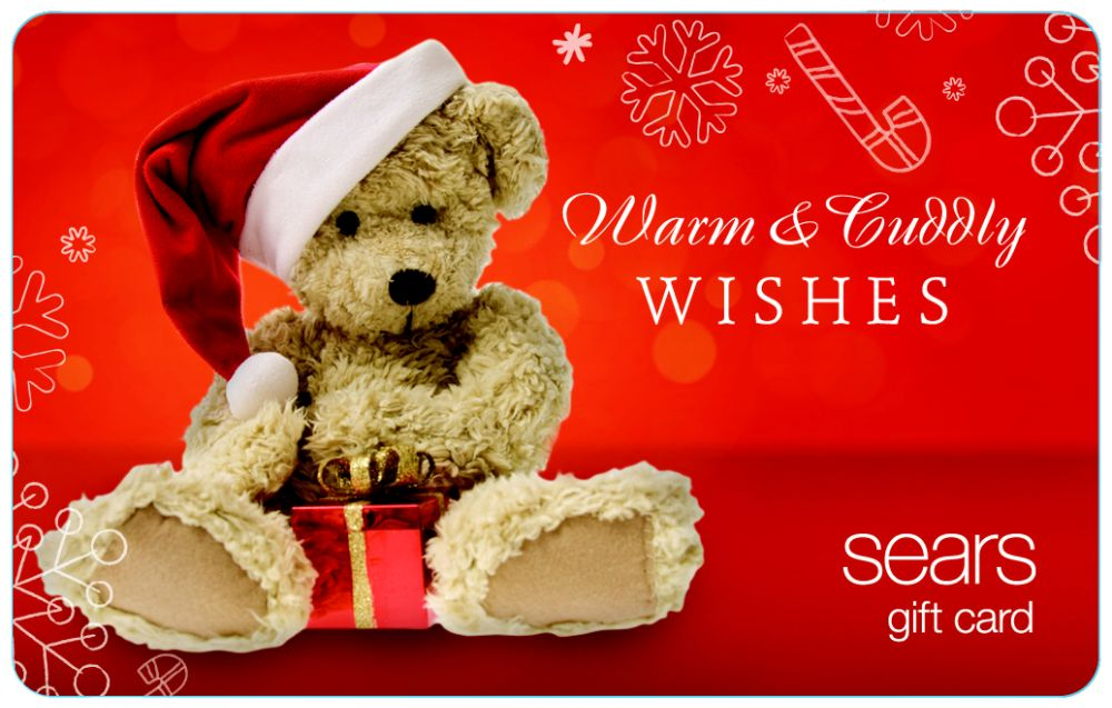 Sears Teddy Bear Gift Card