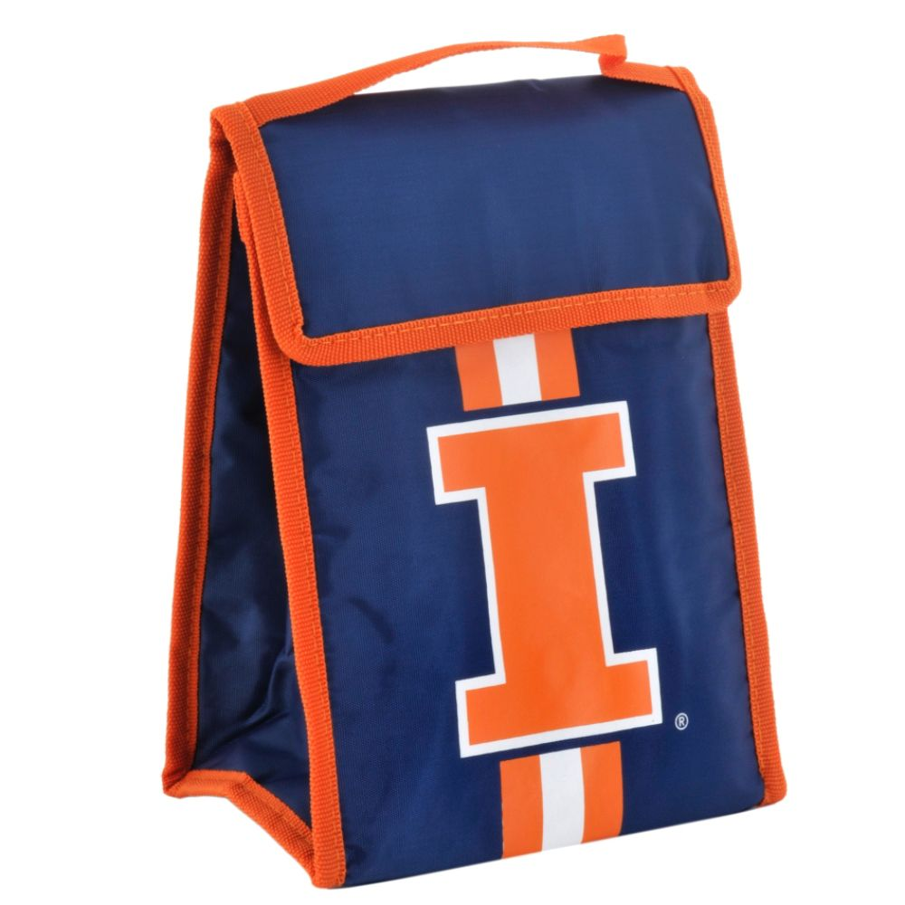 Forever Collectibles NCAA Velcro Lunch Bag - University of Illinois Fighting Illini