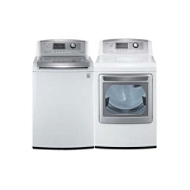 LG 4.7 cu. ft. High-Efficiency Top-Load Washer and 7.3...