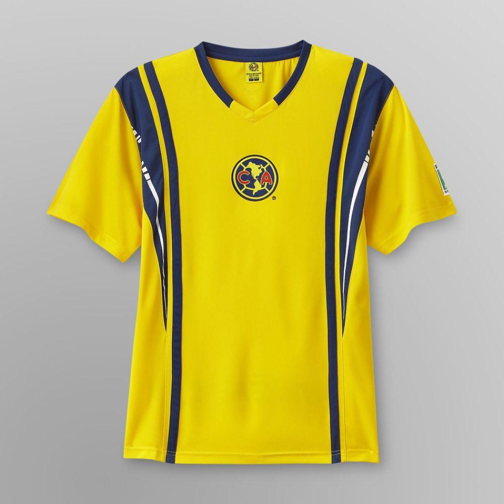 18d78db3a EURO Soccer Men's Club America Soccer Shirt Yellow (04396051002 T1A01) photo