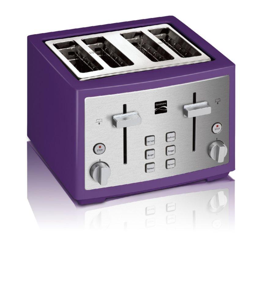 Kenmore 4 slice toaster, Purple