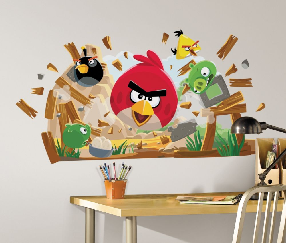 RoomMates Angry Birds Peel & Stick Giant Wall Decals