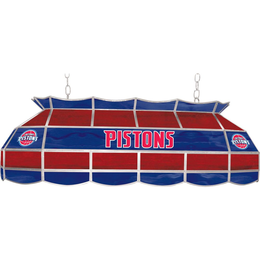 Detroit Pistons 40 inch Stained Glass Tiffany Style Lamp