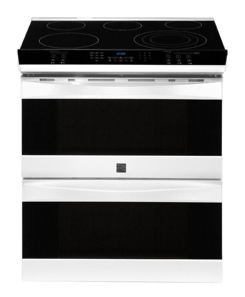 kenmore elite 32 slide in electric range w double convection oven whitekenmore elite 22 41112. Black Bedroom Furniture Sets. Home Design Ideas