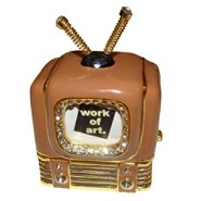 Objet d'art 'Rabbit Ears' Antique Television Trinket Box at Sears.com