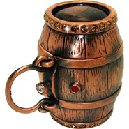 Objet d'art 'Aged In Oak' Barrel Trinket Box at Kmart.com