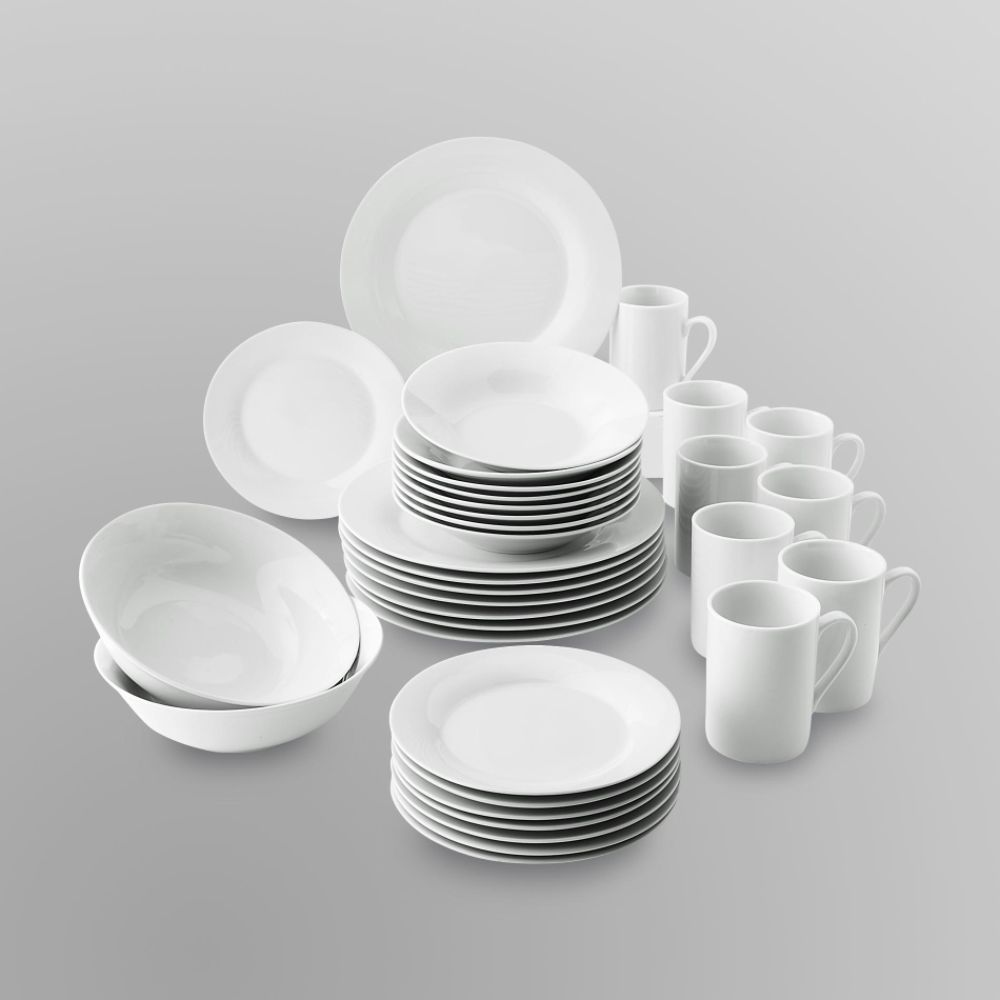 Sandra by Sandra Lee 34 Piece Porcelain Dinnerware Set - Gibson Overseas INC. (011W004888890001 & Porcelain Dinnerware Set Products On Sale