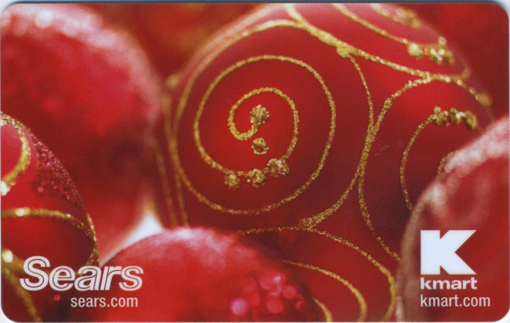 Red Ornament Gift Card