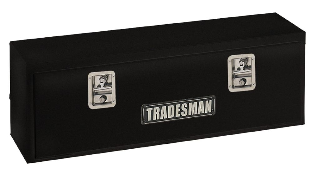 TSTM72BK 72-Inch 22-Gauge Steel Top Rail Mount Box, Black