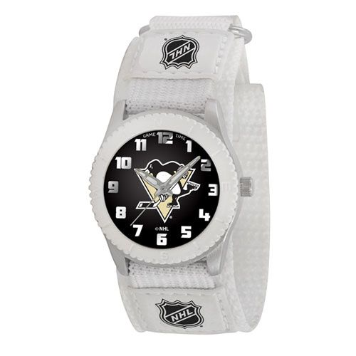 NHL PITTSBURGH PENGUINS ROOKIE WHITE SPORTS WATCH