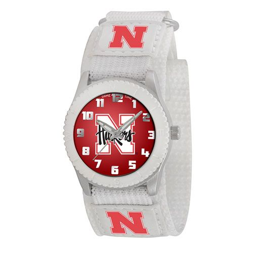 COLLEGE NEBRASKA ROOKIE WHITE SPORTS WATCH