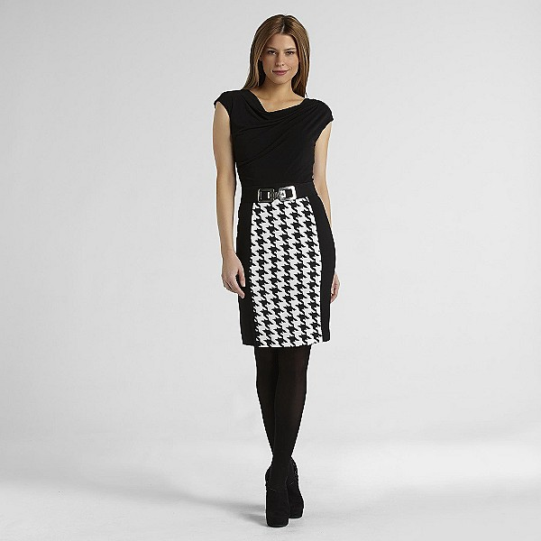 #styleSURPRISE gorgeous houndstooth dress