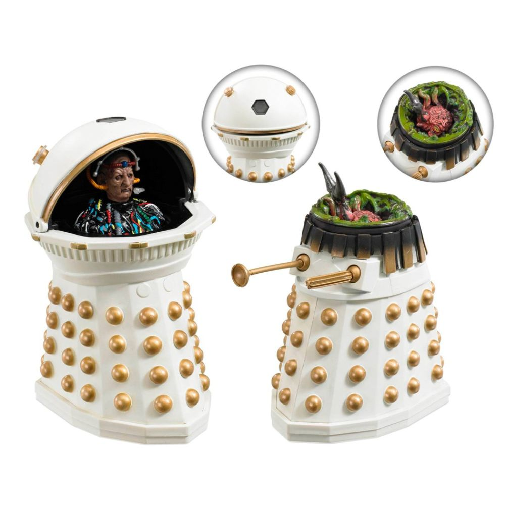 Doctor Who Dalek Emperor Davros and Destroyed Imperial Dalek 5-Inch Action Figure Set Multi-color