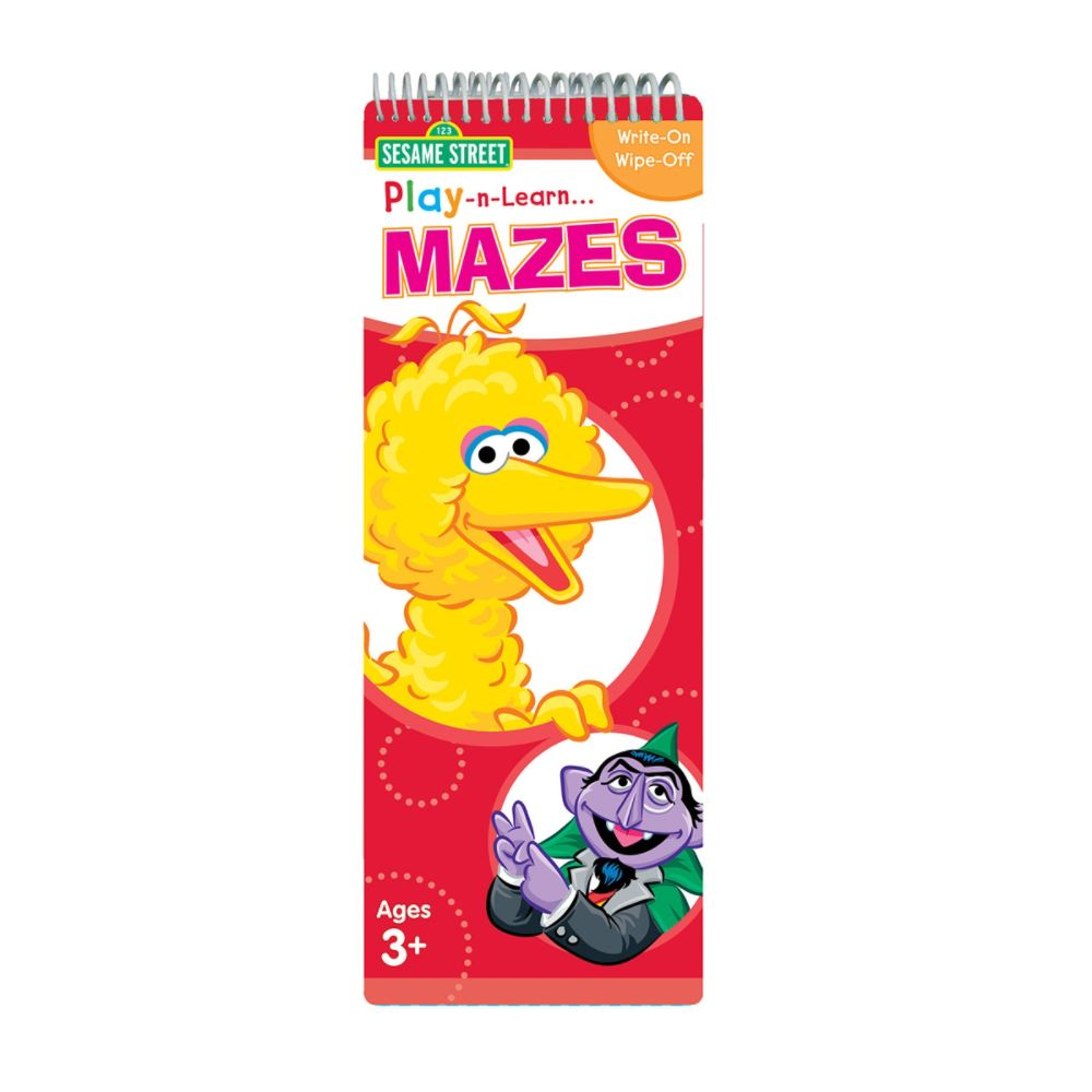 Sesame Street Play and Learn Mazes Tall Spiral Wipe-Clean