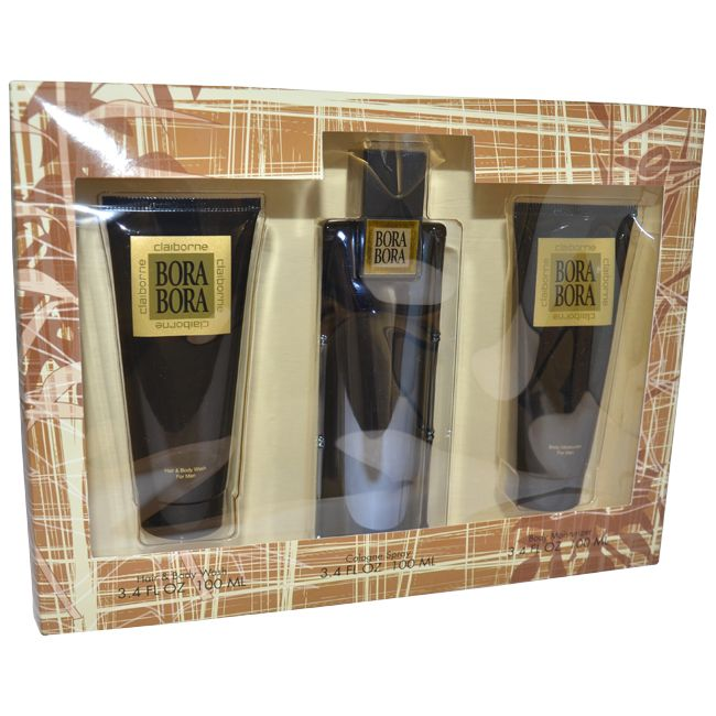 Bora Bora by Liz Claiborne for Men - 3 Pc Gift Set 3.4oz Cologne Spray, 3.4oz Body Moisturizer, 3.4oz Hair & Body Wash