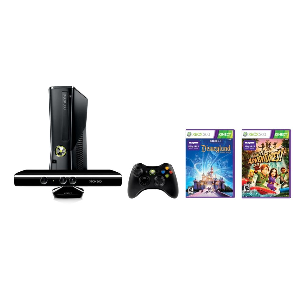 Microsoft Xbox 360S 4GB Kinect Holiday Console Bundle