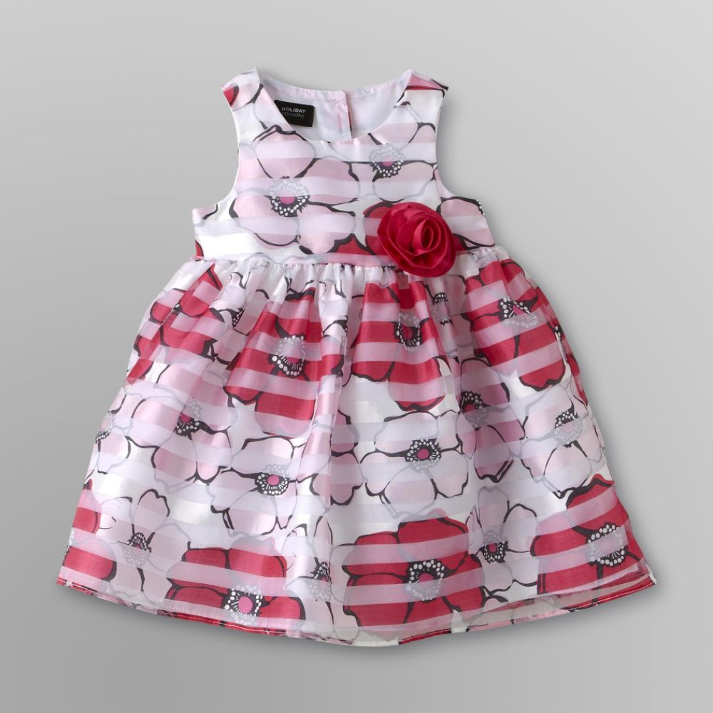 Holiday Editions Infant & Toddler Girl's Party                            Dress - Pink Floral
