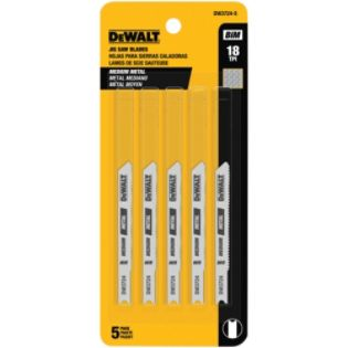 DeWalt  3 In. 18 TPI U-Shank Medium Metal-Cutting Cobalt Jig Saw Blade
