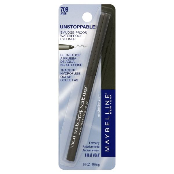 Maybelline New York Unstoppable Eyeliner, Smudge-Proof, Waterproof, Jade 709, 0.01 oz (280 mg)