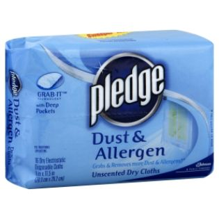 Pledge  Dry Cloths, Dust & Allergen,