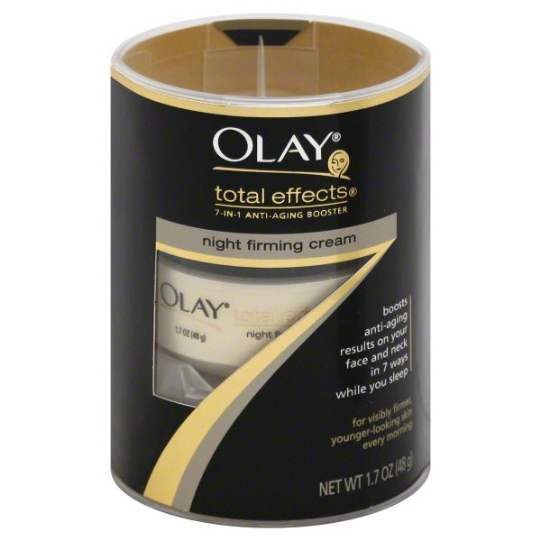 Olay Total Effects Night Firming Cream, 7-in-1 Anti-Aging Booster, 1.7 oz (48 g) White