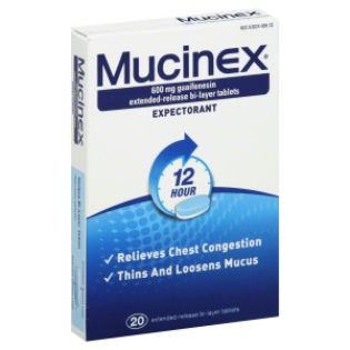 Mucinex  Expectorant, 12 Hour, 600 mg,