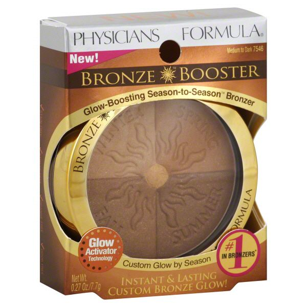 Physicians Formula Bronze Booster Bronzer, Glow-Boosting Season-to-Season, Medium to Dark 7546, 0.27 oz (7.7 g)