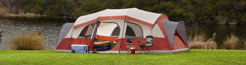 Tent near a lake