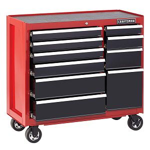 "Craftsman 41"" 10-drawer rolling cart"