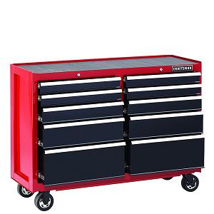 "Craftsman 52"" 10-drawer rolling cart"